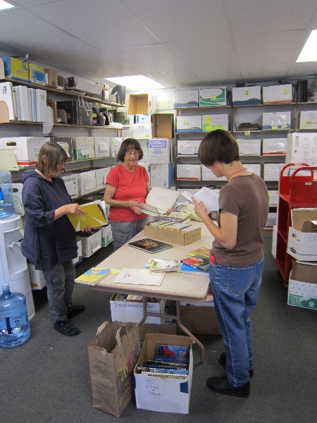 Our Monday Team sorting donations