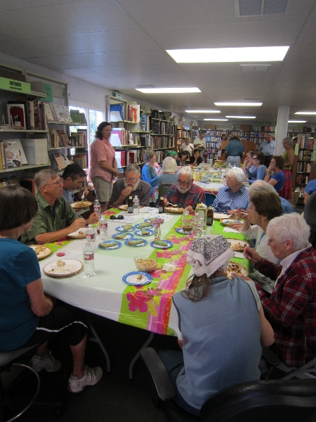 Volunteers enjoying our monthly pre-sale luncheon